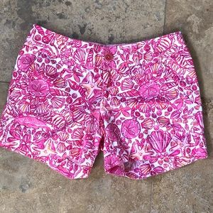 Lilly Pulitzer Fallin In Love Hotty Pink Shorts